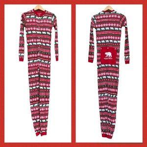 Little Blue House KIDS Onesie Union Suit Long Johns Pajamas Holiday Christmas 14